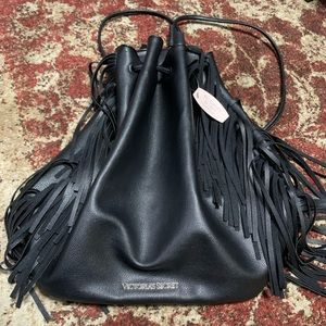 Victoria Secrets Backpack With Fringes All New